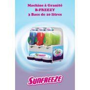 B-Freezy - Machine à granita professionnelle - Sunfreeze - 3 bacs de 10 litres