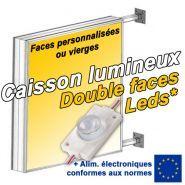 Caisson lumineux LED double faces - Patt'a pub - Epaisseur 15 cm