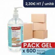 Gels hydroalcooliques - purity - pack de 600 flacon-pompe de 500ml