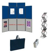 KIT STAND 6 PANNEAU + 2 PANCARTE + PRÉSENTOIR ALU-PLEXI 6 CASE + SACTRANSPORTS