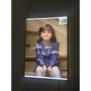 Cadre clipsable lumineux - Guinaudeau - Format A1: 600 x 800 mm