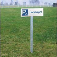 Panneau place handicapé - DIRECT SIGNALETIQUE - Panneau seul avec 4 trous