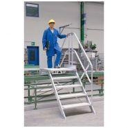 Passerelle - Gentner et fils - Inclinée à 45° largeur utile 600 mm avec 2 escaliers
