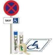 Parking pmr - signals - 1 pochoir 800 x 800 mm en polypropylène stationnement handicapé