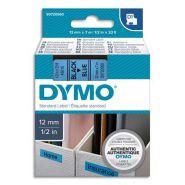 DYMO RUBAN D1 NOIR/BLEU 12MMX7M POUR 1000/1000+/2000/3500/4500/5000/5517 S0720560