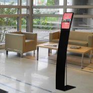 Porte-visuel signalétique a4 / a3 - modèle noir mat ou gris alu