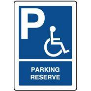 25877 - Panneau place handicapé - VIRAGES - Dimension 280 x 400 mm