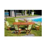 Salon de jardin eucalyptus fsc 6 places frederik mobilier de jardin ...