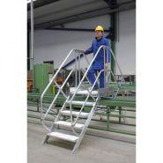 Passerelle incliné à 60° standard - Gentner et fils - Double accès avec 2 escaliers - Main courante en aluminium
