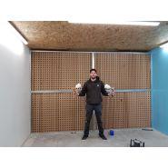 Kit pour montage d'une cabine de peinture / mur aspirant