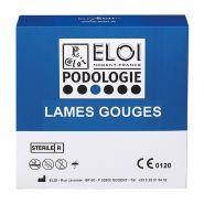 Lame gouge elitech - boite de 100 lames standard stérile n°5 07405