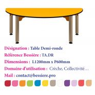 TABLE DEMI-RONDE.