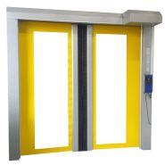 Porte rapide Latérale / à enroulement / en plastique / utilisation intérieure / 6000 x 6000 mm / ignifuge