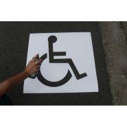 2280004 - pochoir handicapé - handi norme - 25, 50 cm ou 100 cm