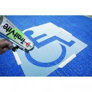 R40147 - Pochoir handicapé - Enjoy Protect -108 x 108 cm