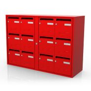 Boîtes aux lettres collectives Préférence / en acier / normalisée / rouge