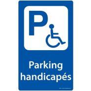 Panneau place handicapé - DIRECT SIGNALETIQUE - Dimension : H 400 x L 250 mm