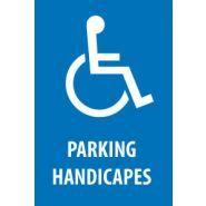 HAN4020 - Panneau place handicapé - Jr signaletic - Avec texte et pictogramme