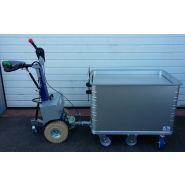 Tracteur pousseur - auptino - pour bac à fond mobile