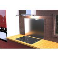 Crédences standard - Savinox - En inox brossé - Dimension : largeur 900 mm, hauteur 700 mm, épaisseur 11 mm