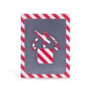 Ne pas incliner - pochoir pour marquage au sol - royal posthumus - aluminium   100mm