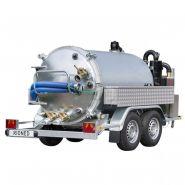 Remorque d'aspiration - hydrocureur - rioned - 2100 litres