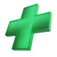 GLORIA LED 1000 SF - Enseigne pharmacie - SARL IDENTY SIGN - Dimensions : 1000 x 1000 mm