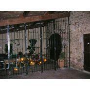Grille de protection d'entrée - Ferronnerie d'Art Riera - grilles fixes et ouvrantes