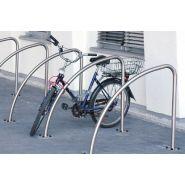 Apvciclo - range-vélos au sol - norcor - arceau en acier inox