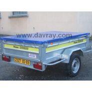 LAC 650 - Bâche, filet et capot pour remorque - E davray - Poids: 680gr/m²
