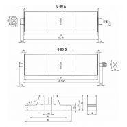 G80 c - tambours moteurs - gesto drum motors - vitesse 0.12 à 0.90 m/s