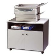 Simmob meuble photocopieur 2 portes + tablette et niche coloris gris