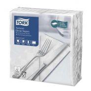 1200 SERVIETTES DINNER GAUFRÉES 1/8 BLANCHES 39X38 TORK