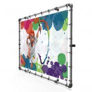 Iwo jima - panneau d'enseigne tubulaire mural avec bâche publicitaire - dediservices