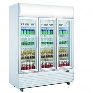 Armoire réfrigérée d'exposition positive 1300l 3 portes professionnel