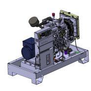 K33C3 Groupes électrogènes Industriel - SDMO - Tension de Référence (V)400/230