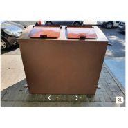 Gamme athéna - cache-conteneurs et abris poubelle - viva cite - en métal