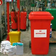 Kits antipollution - kit d'intervention 440 litres hydrocarbures