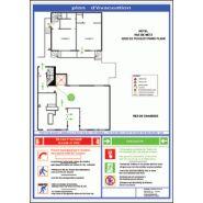 Plan d'évacuation pour établissement hôtelier
