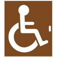 Pochoir handicapé - signature - 600 x 500 mm