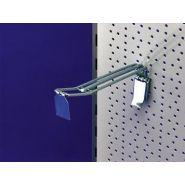 CROCHET DOUBLE HAUTE PERFORMANCE P/PANNEAU PERFORÉ   500 MM   25 MM