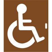 6650B - Pochoir handicapé - Marquage Plus - 120cm x 100cm