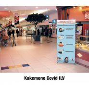 Kakemono - Signalétique Covid - BREARD COMMUNICATION SA - Affichage des consignes de sécurité
