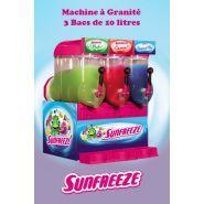 Freezy - Machine à granita professionnelle - Sunfreeze - 3 bacs de 10 litres