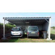 Abri voiture autoportant / structure en acier / toiture monopente