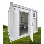 Wc pmr avec lave-mains intérieur - modulaire en location - sebach