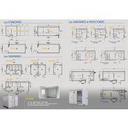 Bungalow de chantier Junior J40 / monobloc / base vie / aménagé / ossature en métal / parois en panneau sandwich / isolé / 3.94 x 2.5 x 2.7 m