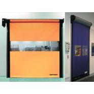 Porte rapide / souple / à enroulement / en plastique / utilisation intérieure / 11000 x 5500 mm