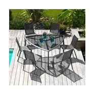 Salon de jardin alu 6 places royal grey gris malaga triangle salon ...