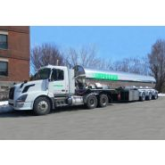 Remorques citerne gaz comprimé - Bedard Tankers Inc - Tridem